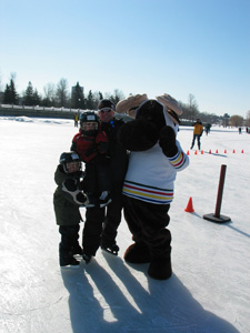 Mascot and the boys