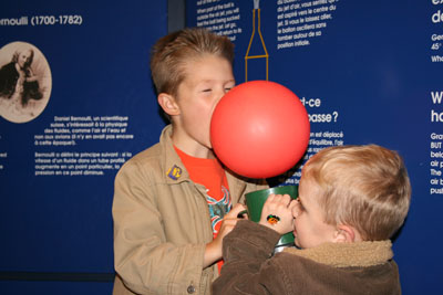 The boys at the aviation museum