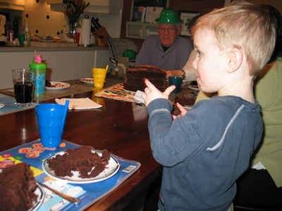 Carter about to pounce on the cake!
