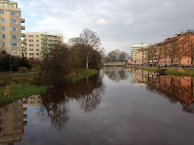 View of Fyrisån River in Uppsala