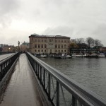 View of National Museum on bridge to Skeppsholmen