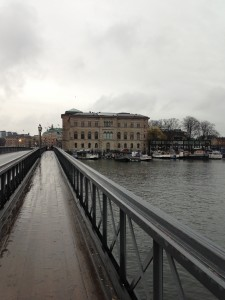 View of National Museum on bridge to Skeppsholmen